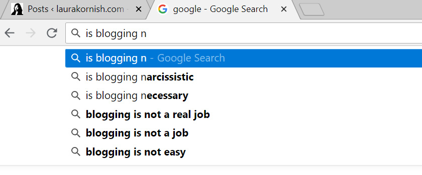Is blogging narcissistic?