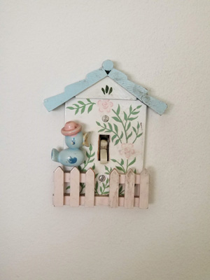 Birdhouse Light Switch Cover. You Can't Go Home Again.
