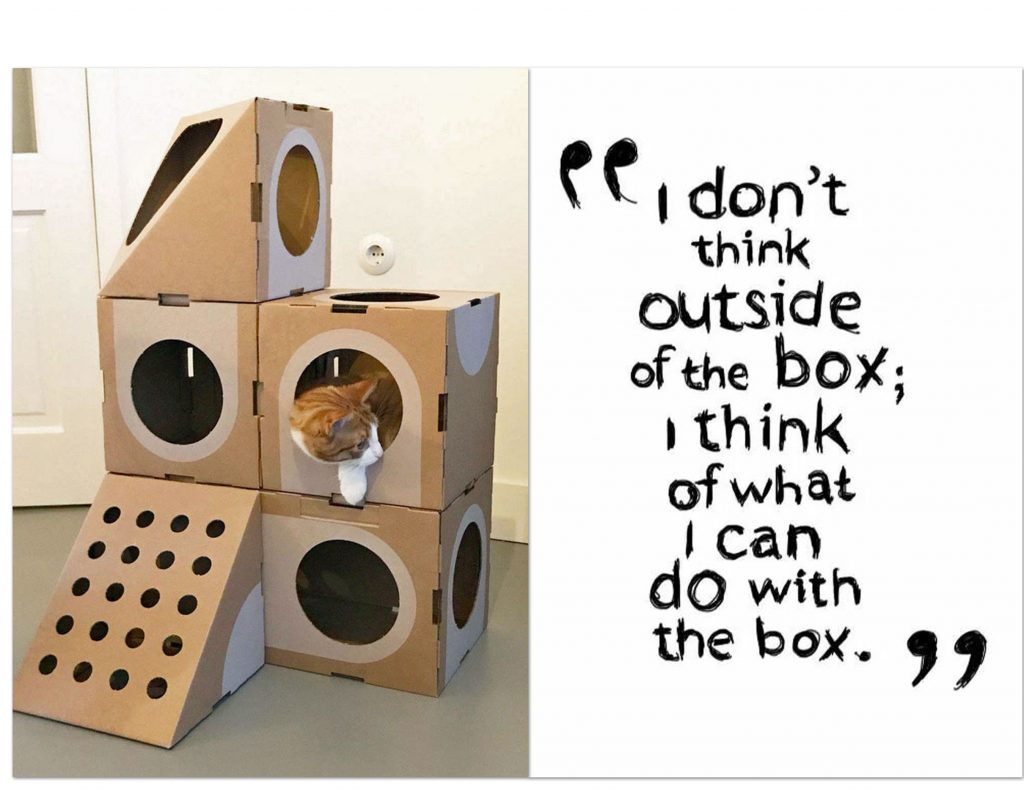 don't think outside the box; think of what you can do with the box